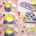 cooking and filling gummy bear molds