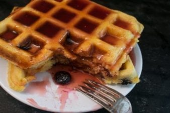 low sodium blueberry waffles