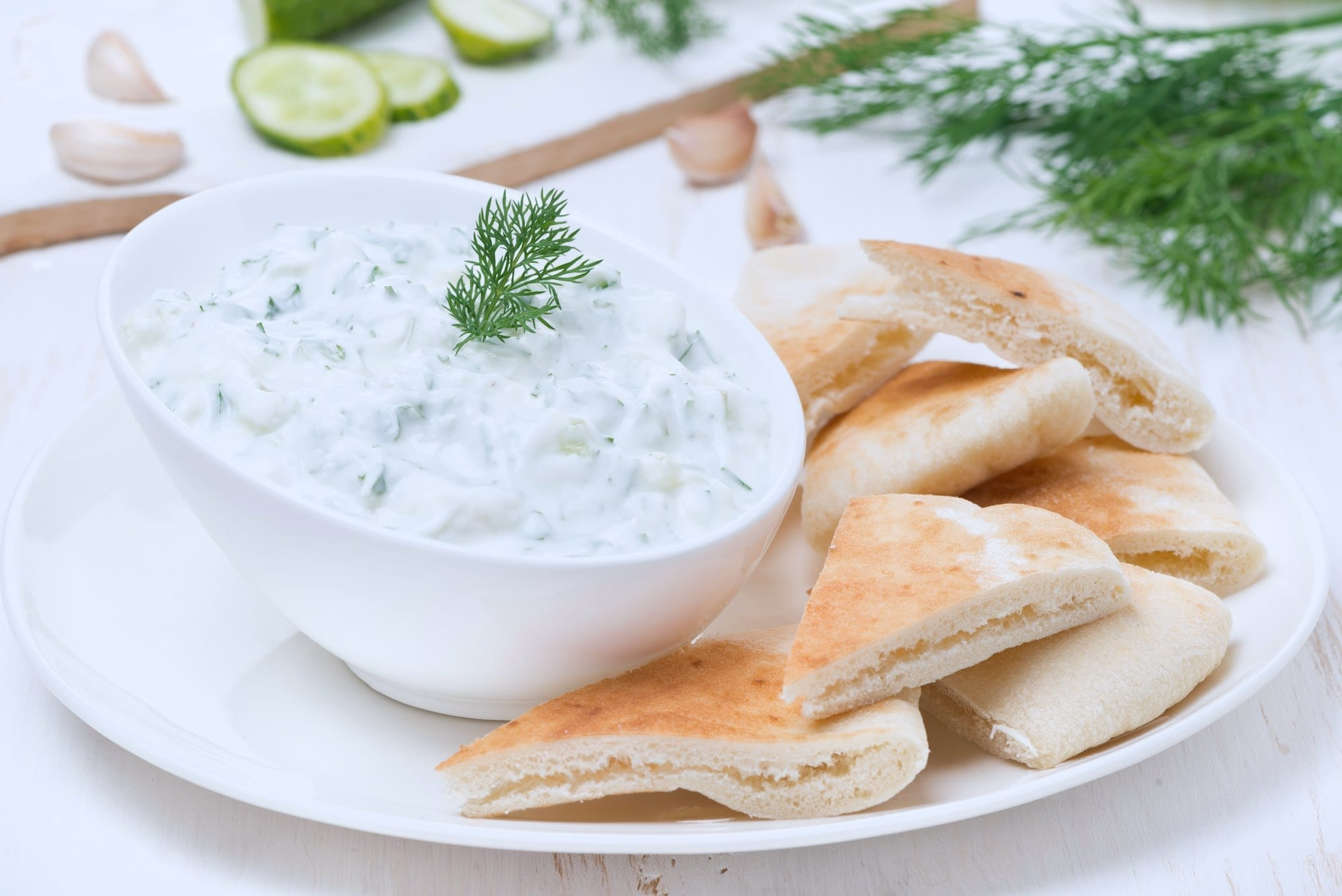 Picture of Tzatziki Sauce w. Pita Bread