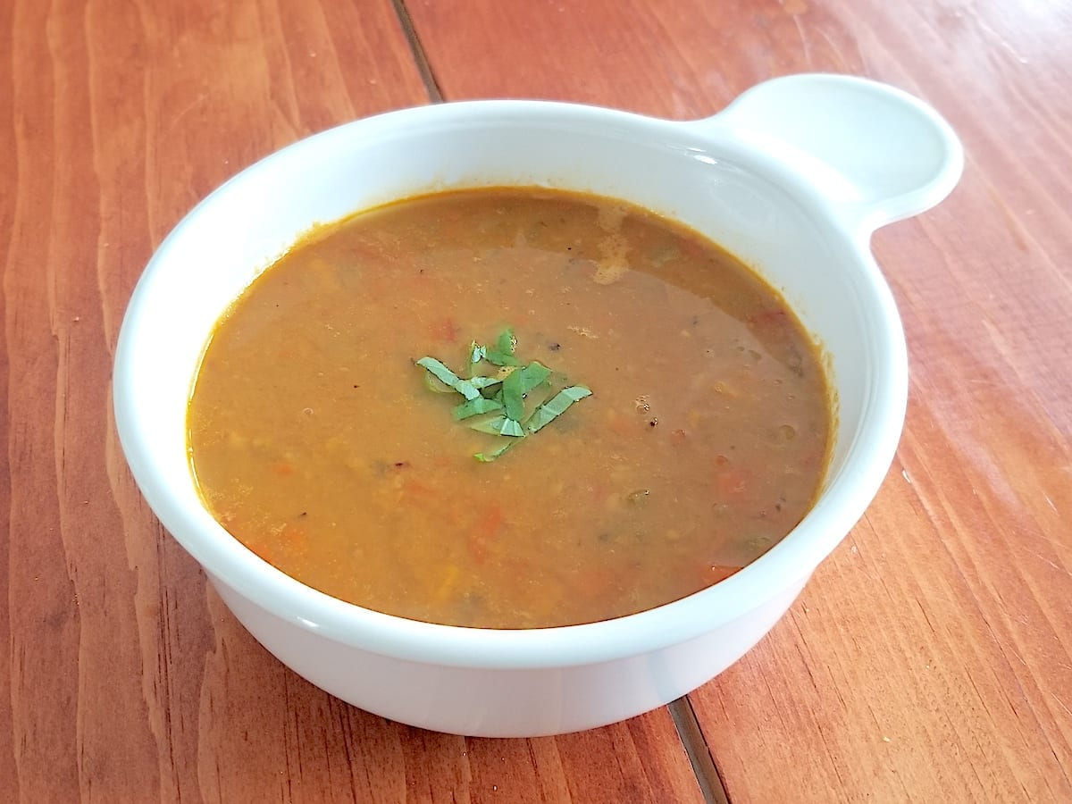 Bowl of Chickpea Curry Soup