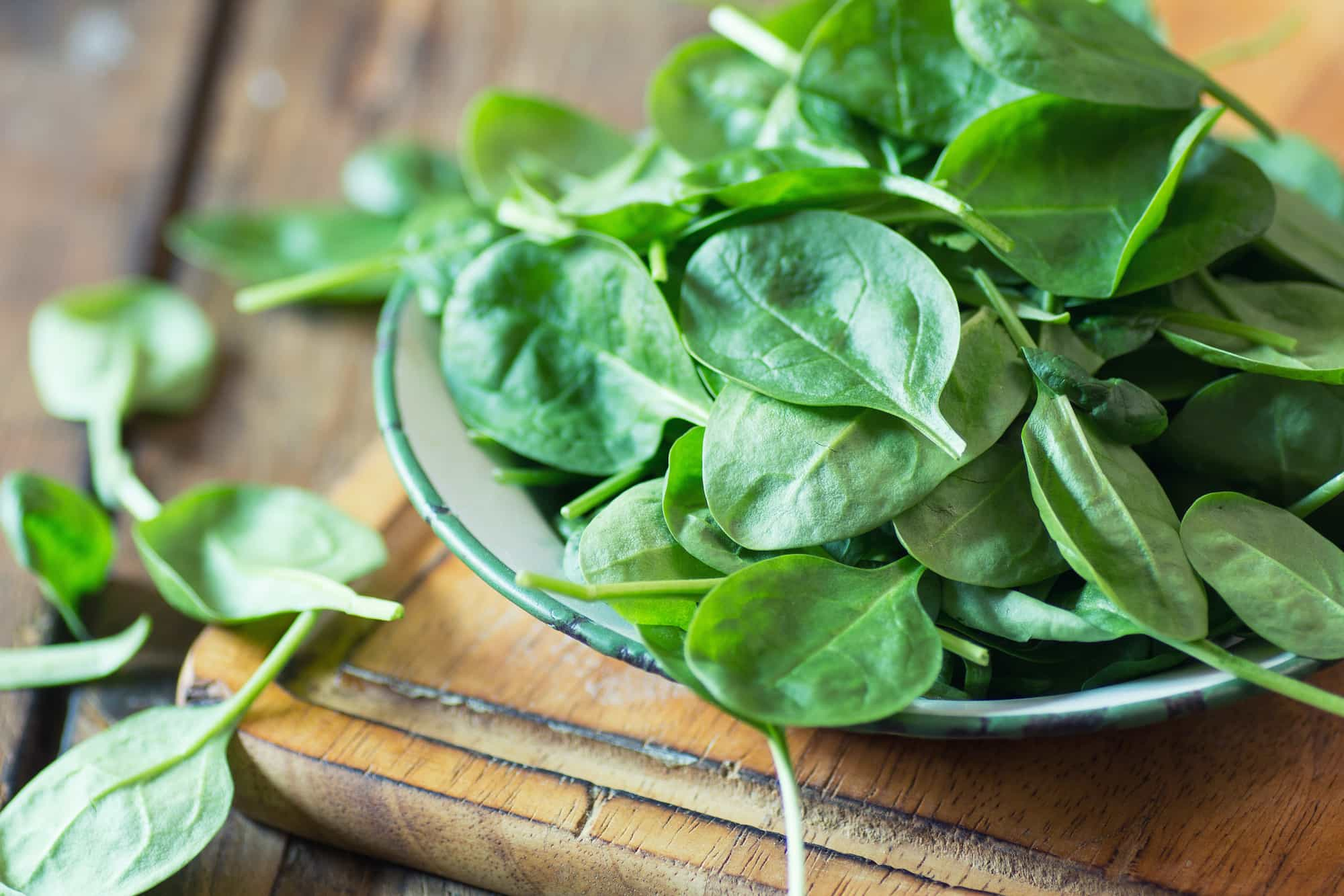 photo of spinach in bowl