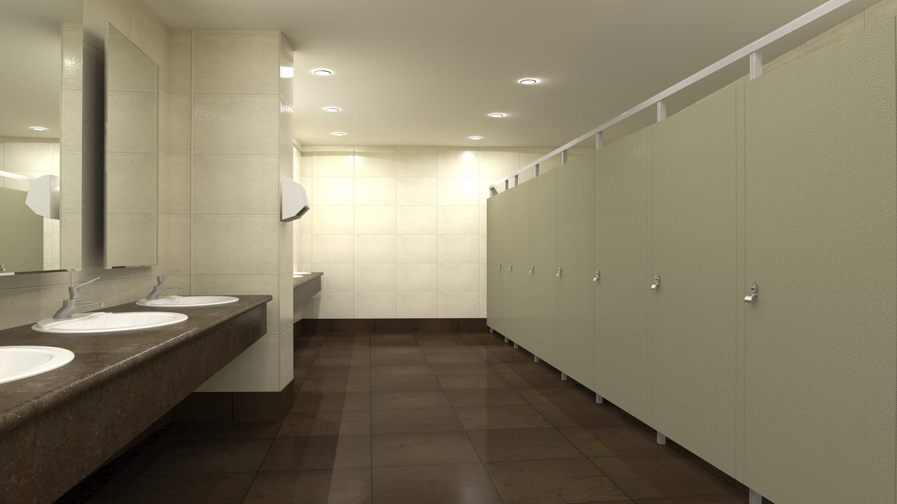 Nickel Eclipse Toilet Partitions
