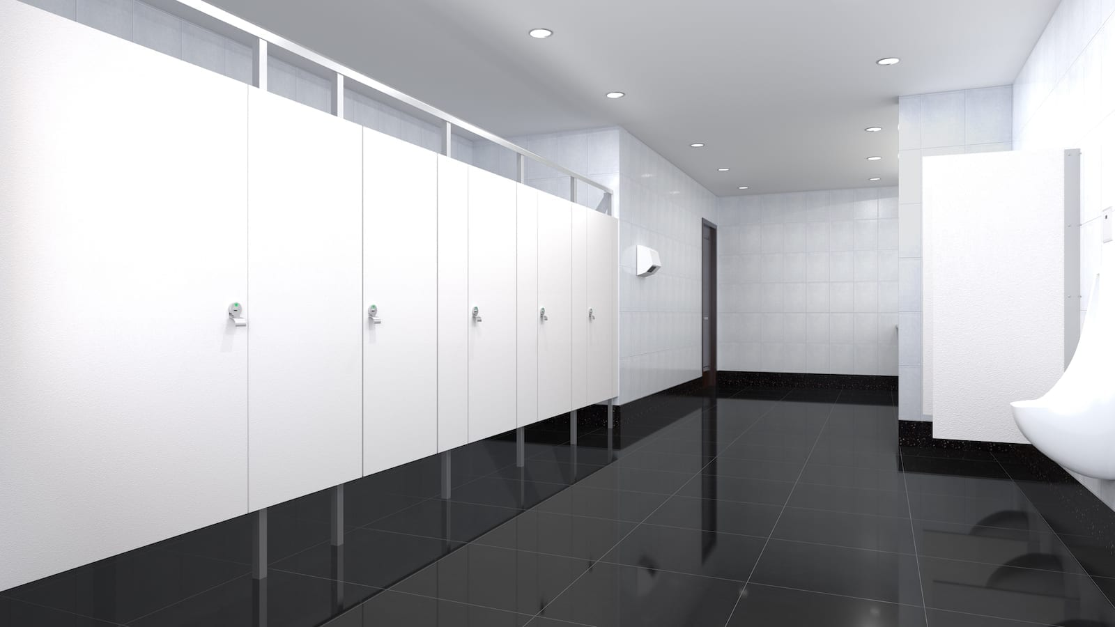 White Eclipse Toilet Partitions