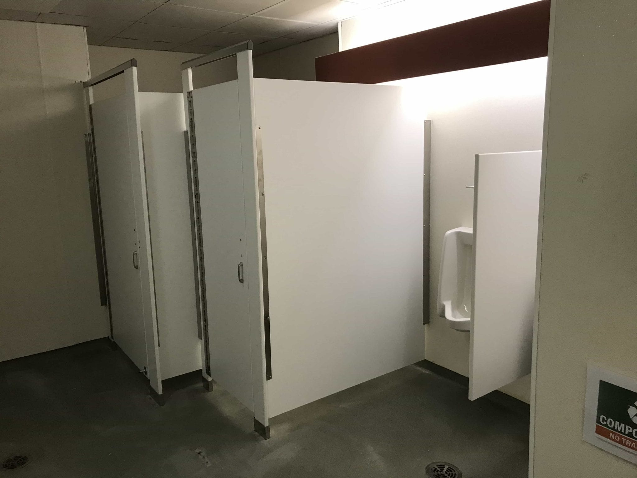 Solid Plastic Toilet Compartments by General Partitions
