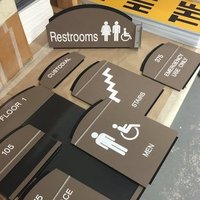 pile of signs