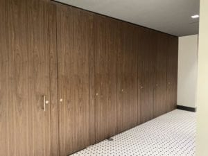 wood restroom partitions