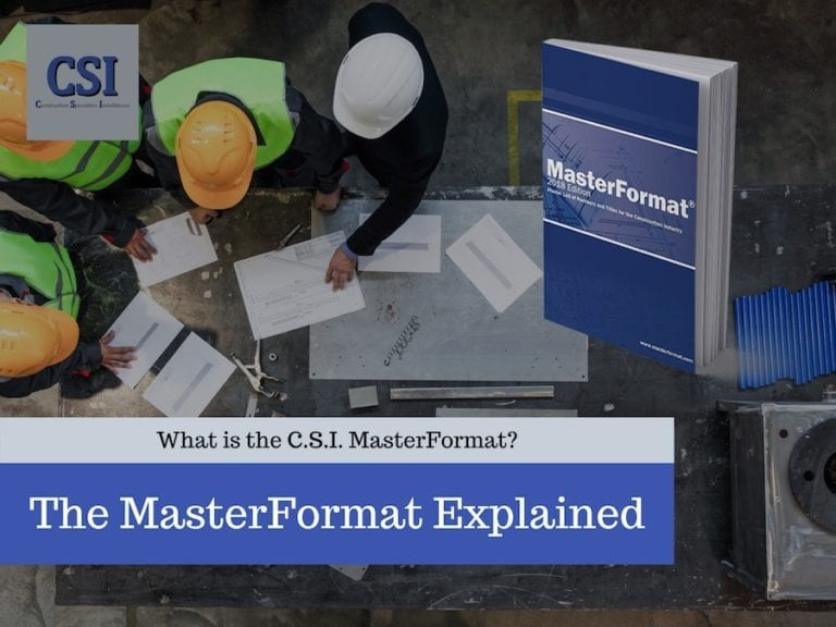What is the MasterFormat?